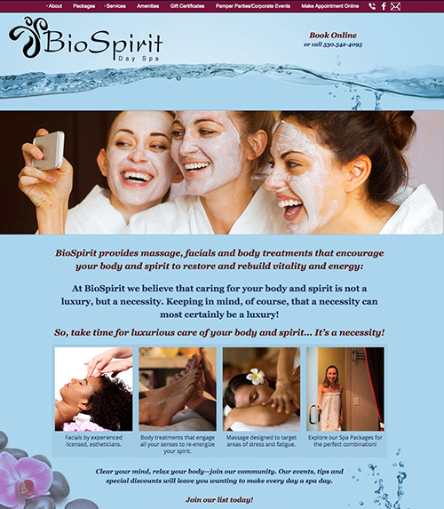 BioSpirit Day Spa website image