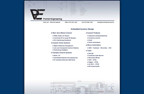 PreVail Engineering website image