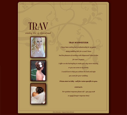 Trav Schweitzer Wedding Hair by Appointment website image
